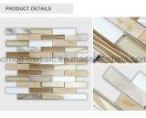 Mattonelle di mosaico di alluminio di pietra di vetro della striscia casuale di Backsplash della cucina del mosaico