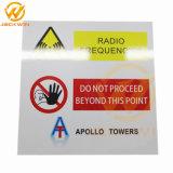 주문을 받아서 만들어진 장방형 사려깊은 알루미늄 경고 표시