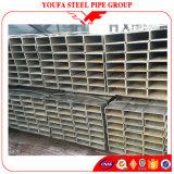 Sección rectangular galvanizada sumergida caliente de la depresión del tubo de acero del tubo cuadrado
