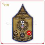 Kundenspezifische Schild-Antike-Messingmetallmünze