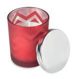 カスタマイズされたロゴのふたが付いているガラスの香料入りの蝋燭