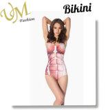 Reizvoll Frauen-Badebekleidungs-Badeanzug-neuen Drucken-Bikini hochdrücken