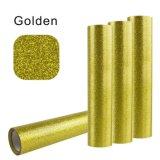 Vinyle d'or de transfert thermique de scintillement d'éclat pour des textiles