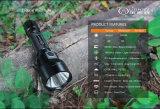 Profesión táctica, antorcha recargable, dual de la fuente de la fábrica del interruptor LED para la caza, búsqueda, acampando
