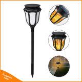Nuevo césped parpadeo llama Solar Linterna LED Lámpara Luz llama baile realista para la decoración de jardín exterior impermeable