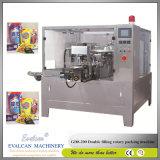 Pó Wheatgrass automática máquina de embalagem rotativo com enchimento de sem-fim