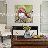 Paletten-Messer-Vogel-Ölgemälde-Bauernhof-Kunst auf Segeltuch für Hauptdekoration