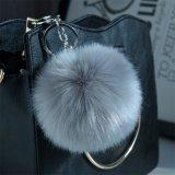 Anello portachiavi Pendant di turbine di neve del Pompom delle ragazze del sesso della borsa della borsa delle donne della novità