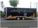 De reizende Caravan van het Voedsel met de Glijdende Mobiele Kar die van het Voedsel van Vensters Elektrische Verwarmde Mobiele Bestelwagen koelen
