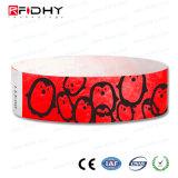 Bon marché du papier imprimé Bracelet Bracelet tyvek RFID