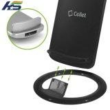 Carregador de Qi do suporte do carrinho da qualidade superior para C.C. sem fio 5V 1.5A do carregador de Samsung