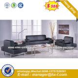 Italia clásica de madera de diseño de mobiliario de oficina oficina de cuero sofá (UL-CSN415)