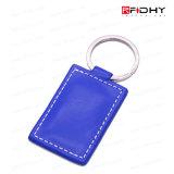 Rewritable Leder RFID Keyfob der Zugriffssteuerung-125kHz