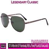 1011A homens anti-UV na moda óculos polarizados com estrutura metálica