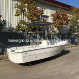 モーターを搭載するLiya 5.0mのガラス繊維のパンガ刀のボートのガラス繊維の漁船