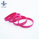 Commerce de gros gaufré personnalisé Bracelet en caoutchouc de silicone pour la promotion