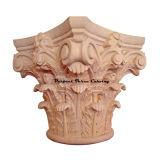 Klassisches Holz geschnitztes volles rundes römisches korinthisches Kapital Cap-Fr-01
