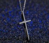 女性の人の恋人のカップルのギフトのためのステンレス鋼の宗教Immanuelの簡単な十字の吊り下げ式のネックレス