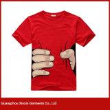T-shirt 100% do algodão da qualidade superior da forma dos homens (R125)