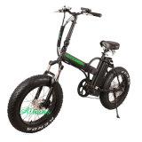 Bafang 모터 48V 350W 뚱뚱한 타이어 바닷가 함 전기 Foldable 자전거