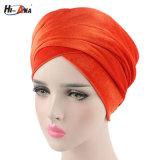 Involucro musulmano della testa del turbante del velluto delle donne di nuovo modo