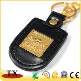 Corrente chave de couro alaranjada do plutônio feito sob encomenda da cor e do logotipo