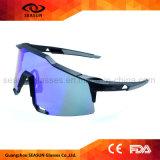 Grande visão da alta qualidade que reveste óculos de sol feitos sob encomenda resistentes da segurança do esporte para o funcionamento de condução de ciclagem