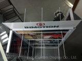 Los productos electrónicos pantalla metálica para rack de ganchos de doble cara de la inducción de estante de coche