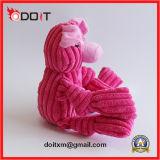 Juguete del producto del perro de la fuente del animal doméstico de la felpa de la tela del terciopelo de la tira de la seguridad del cerdo