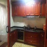 最も普及したアメリカのチェリーの純木の台所家具のキャビネット