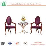 Ocio moderno mobiliario de exterior de jardín de madera mesa de comedor y sillas