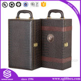Alta qualidade Custom Foldable Display Packaging Leather Wine Box