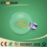 Modelo G125 4W do filamento da lâmpada do diodo emissor de luz