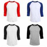 T-shirt ordinaire fondamental de chemise de l'été 3/4 de femmes d'hommes