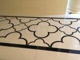 白くおよび黒いNano結晶させたガラス石造りの床タイル