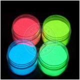 Obscuridade fluorescente de néon do fulgor do pó do pigmento luminoso do pó da poeira do Glitter do prego do pó do fósforo