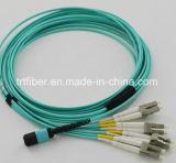 Cable de MPO OM3 Cable de conexión de fibra 10g