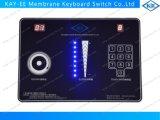 Rotary LCD / corredera de conmutación capacitiva táctil de membrana con LEDs