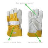 Корова зерна полностью из натуральной кожи для рук рабочие перчатки (3101)