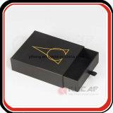Kundenspezifisches heißes Folien-Goldfirmenzeichen-Schwarzes schob Fach-Kasten mit Farbband