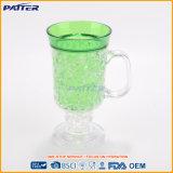Tazas de consumición plásticas de las tazas de hierba del jugo superventas del color verde