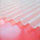 1mm de espessura de papelão ondulado de policarbonato para coberturas de folhas decorativas à prova de fogo