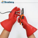 Перчатки резины латекса электрика 1000V типа 0 фабрики Китая изолируя