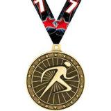 Medaglia d'ottone su ordinazione di maratona con l'esercito della casella del medaglione del premio della sagola