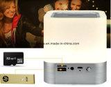 Нажмите кнопку светодиодный светильник с беспроводной технологией Bluetooth с часами и будильником