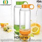 La figura creativa BPA libera la bottiglia di acqua di Infuser della frutta di Tritan, la bottiglia di acqua di plastica personalizzata (HDP-0749)