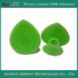 Spazzola d'erogazione del piatto della spugna del silicone di lavaggio del sapone facciale all'ingrosso della spazzola