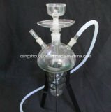 De Waterpijp van Shisha van het Glas van de tabak met de Plank van het Ijzer