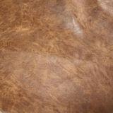 柔らかい耐久財PUの靴の家具(E6087)のための狂気の馬ののどの革