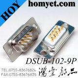 D-SUB banhado a ouro dB9pino conector macho, Conector Tipo de Solda